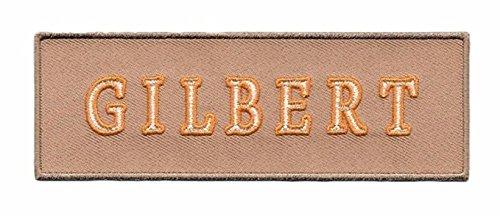 MemelBurg GHOSTBUSTERS III Film GILBERT Uniform Namensschild 5 Wide Eisen auf Tan Patch