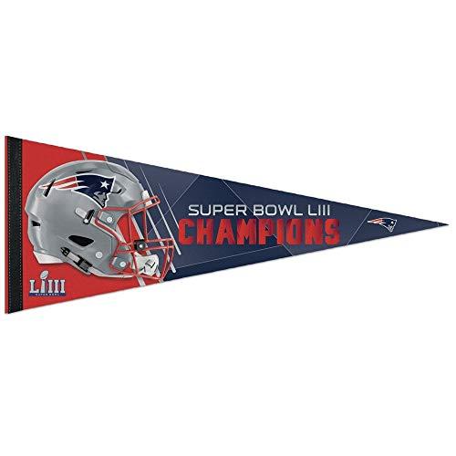 Wincraft New England Patriots Super Bowl LIII Champions Premium NFL Wimpel - Super Patriots Bowl-fanartikel