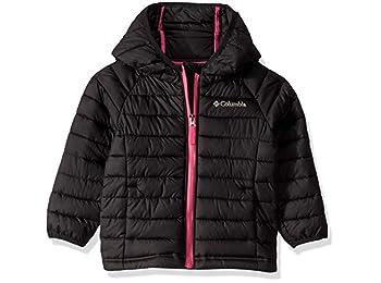 Columbia Girls' Hooded Jacket, Powder Lite, Black, X-Small