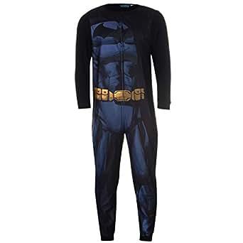 Dc comics mens batman onesie nightwear for adults amazon for Mens dress shirt onesie