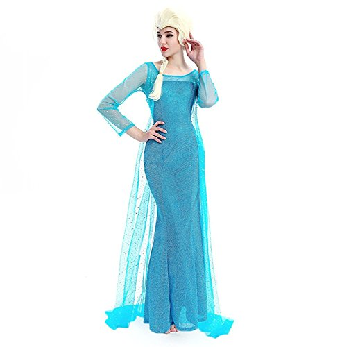 Donna carnevale costume frozen dress elsa vestito adulto12 y (it48 xxl)