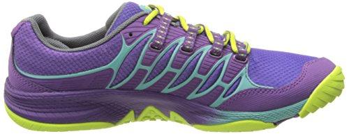Merrell ALLOUT FUSE, Chaussures de Fitness femme Multicolore - Mehrfarbig (PURPLE/LIME)
