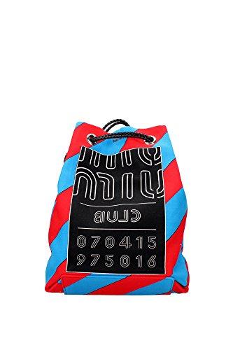 5BZ006ROSSOAZZURRO Miu Miu Sac à dos Femme Tissu Multicouleur Multicouleur