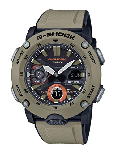 CASIO Herren Analog - Digital Quarz Uhr mit Resin Armband GA-2000-5AER