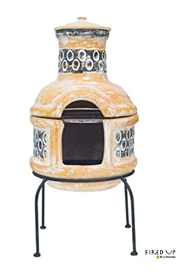Clay Chiminea Barbecue 67030