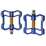 JFF Pédale de vélo pour vélo de Montagne Ultra-léger en Alliage d'aluminium,Blue