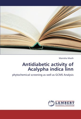 Antidiabetic activity of Acalypha indica linn: phytochemical screening as well as GCMS Analysis