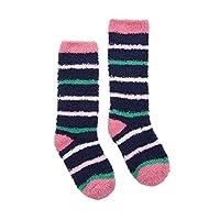 Joules Fluffy Girls Fluffy Sock - Navy Stripe