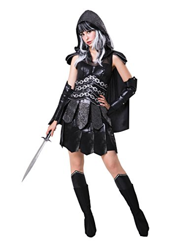 Bristol Novelty af077 Dark Warrior Lady, Damen, Schwarz, One size (Katniss Kostüm Kleid)