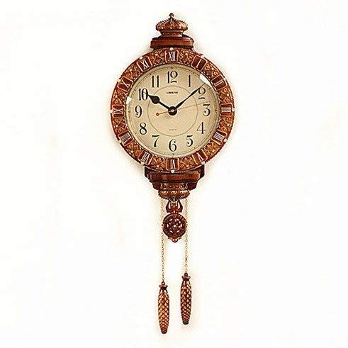 Deluxe-zifferblatt-skala (YHEGV Wanduhr im europäischen Stil Super Deluxe große Uhr der kreativen Persönlichkeit Uhr Stumm übergroße Wand The Lounge Wecker, b)