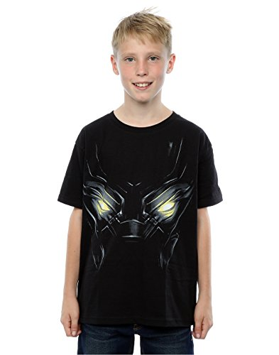 (Marvel Jungen Captain America Civil War Black Panther Eyes T-Shirt 7-8 Years Schwarz)