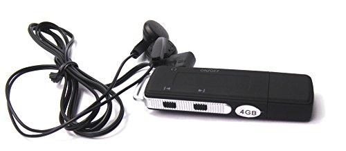 MP3 Player als USB-Stick digitales Diktiergerät, Version 2, mit Abspielfunktion mit Ohrhöhrer, bis zu 25 Std Aufnahme
