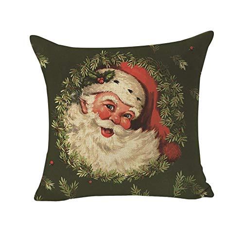 Kissenbezug, Weihnachtsdekoration, innovativer Weihnachtsmann, bedruckt, 45 x 45 cm -