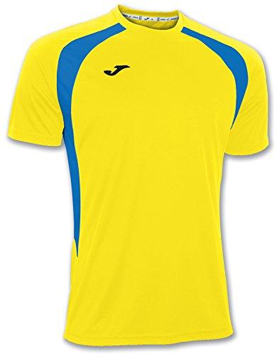 Joma 100014.907 - Camiseta de equipación de Manga Corta para Mujer, Color Amarillo/Azul Royal, Talla 2XL-3XL
