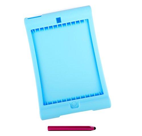 DURAGADGET Blaue Easy Grip Silikonhülle und rosa Stift für Apple iPad 2018 - 128 Gb Cellular Ipad Mini 2
