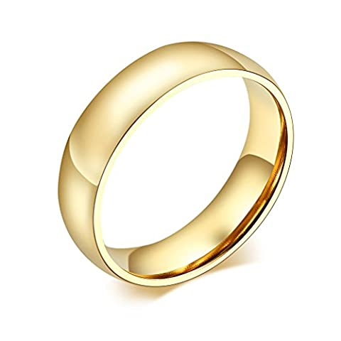 Vnox 6mm Mens Womens Unisex Stainless Steel Engrave Blank Simple Plain Band Ring for Engagement Anniversary
