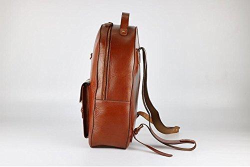 DJB/ Leder Umhängetaschen Mann Tasche Männer Stil-koreanische Ausgabe Rucksack gegerbte Leder Flut Paket Brown