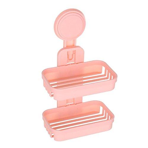 Xuan - Worth Having Plastique à Double paroi de Savon de boîte de Savon de Mode Double Rose de Mode accrochant Le Plastique