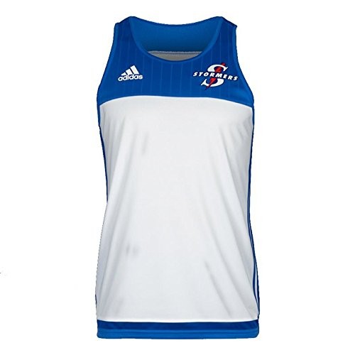 adidas Stormers 2017 Super Rugby Players Training Singlet - White - Size S -