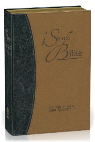 Bible Neg Macarthur Souple Similicuir, Tr. Or Duo Bleu et Beige par Neg & Macarthur