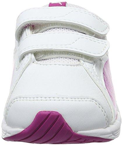 Puma Axis V4 Sl V Inf, Scarpe da Ginnastica Basse Unisex – Bambini Bianco (Puma White-ultra Magenta 14)