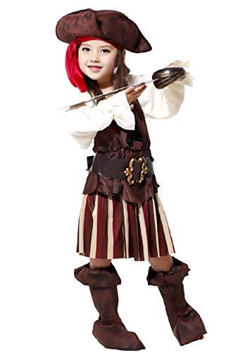 Inception Pro Infinite Größe M - 4 - 5 Jahre - Kostüm - Verkleidung - Karneval - Halloween - Piraten - Seeräuber der Meere - Karibik - Grüne Farbe - Kleines Mädchen
