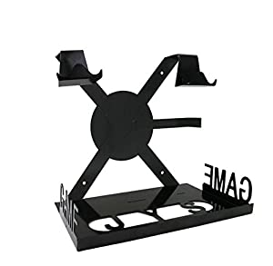 KuGi PS4 Slim Console Wall Mount, PS4 / Xbox One S Console Stand Display Wall Mounting Kit with Adjustable Height and Width , 4 in 1 Smart Game Pad Hanger for PlayStation 4/PS4S/PS4 Pro Xbox One S Console.
