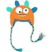 Malloom Sombrero de Punto Salvaje de Dibujos Animados Bebé recién Nacido Bebé de Punto Sombrero de Ganchillo Gorra Foto Accesorios de fotografía