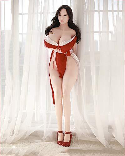 Xingjo Lebensechte Sexspielzeug Für Männer Sexpuppe,Sexuelle Liebe Große Brüste Roboter,Öffnungen Vagina Oral Anus Teen Liebespuppe Weiblich Silikon 3D TPE Sex Real Doll Puppen 170Cm,Flesh