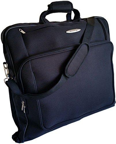 Lorenz Deluxe Kleidungsstück Carrier Case Kleiderschrank Kleidersack Reisetasche Anzug Träger Schwarz (Anzug-reisetasche)