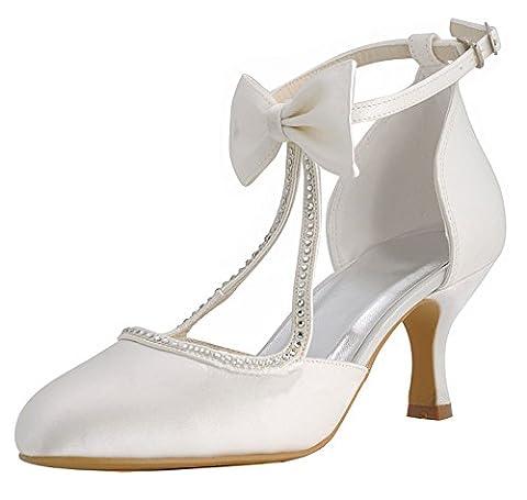 Kevin Fashion , Chaussures de mariage tendance femme - beige - ivoire, 38