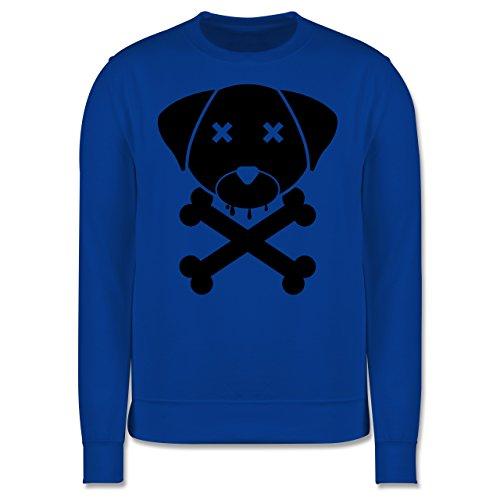 Hunde - Hund Skull - Herren Premium Pullover Royalblau