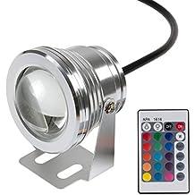 Led Luces Subacuáticas RGB con Control Remoto, ABEDOE 10 W 12 V IP65 Led Paisaje Esculturas de Luz Boda Estanque de Agua de Estanque de Peces Iluminación
