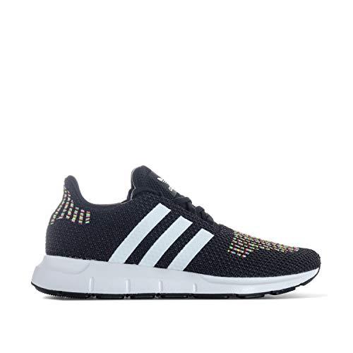 adidas Swift Run, Damen Niedrig, Schwarz (schwarz / weiß), 36 2/3 EU (4 UK)
