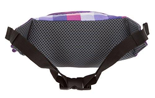 2 Teile: BESTWAY Bauchtasche Beatbox HIPSTER BAG Wimmerl Gürteltasche Hüfttasche 40174 + Schlüßelmäppchen Leder (Türkis Plaid 1700) Purple Plaid 1900