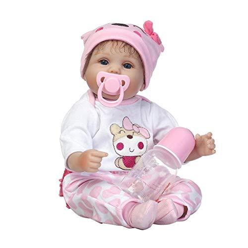 LyGuy Kindheit Babyspielzeug der frühen Kindheit, Rosa Kleidungs-Hut-nettes Bärn-Muster Perfektes Geburtstags-Puppen-Geschenk für Kinder 16 Zoll 40 cm (16 Kleidung In Puppe)