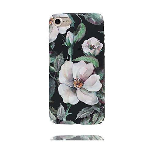 iPhone 6s Plus Custodia, Copertura iPhone 6 Plus 5.5, | Peso leggero ultra sottile Silicone Gel Soft Gel | Cartoon Fashion iPhone 6S Plus Case - Rosa fiore colorato, Antigraffio e ring supporto Color 6