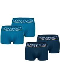UOMO Herren Boxershorts Sports. 4er Pack Boxershort in aktuellen Farben