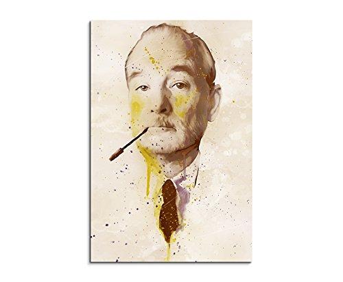 Paul Sinus Art Bill_Murray_Splash_90x60cm Wandbild Leinwand, 90 x 50 x 3 cm, mehrfarbig
