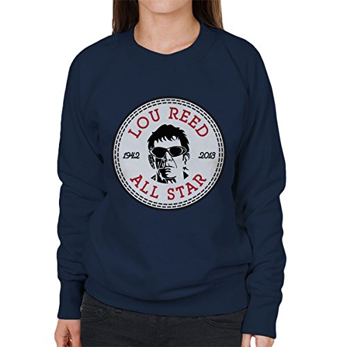 Lou Lou Damen Pullover (Lou Reed All Star Converse Logo Women's Sweatshirt)