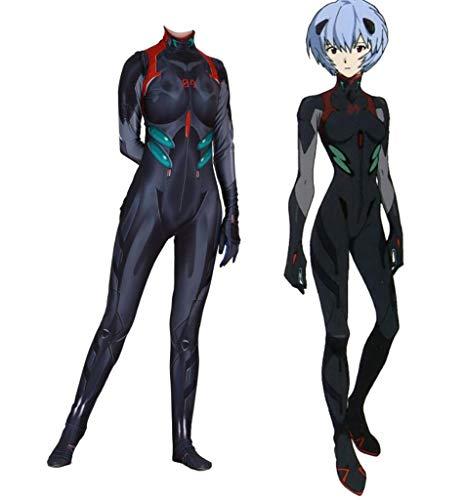 TOYSSKYR Evangelion Plugsuit Cosplay elastische dünne Kleidung Pack Halloween Movie Display Requisiten (Farbe : SCHWARZ, größe : M)
