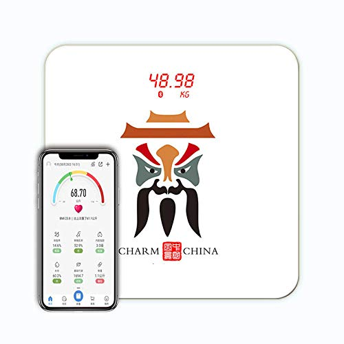 Lxj Gewicht Waage Körperfettwaage BMI Daten Bluetooth EIN-klick-Anschluss USB Ladegerät LED Display elektronische Waage