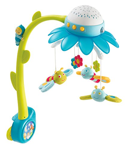 Smoby 110111 - Cotoons Blumen Mobile mit Deckenprojektor, blau