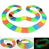 #8: Kids_Bazar 220 Pieces Flexible Variable Glow Track Set with Lighting Car