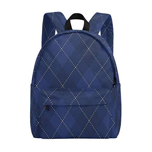 Kinder Schulrucksäcke Vintage Argyle Geometrische Büchertasche Teenager- Studenten Mädchen Jungen College Rucksack Bookbag Freizeit Reise Daypack -