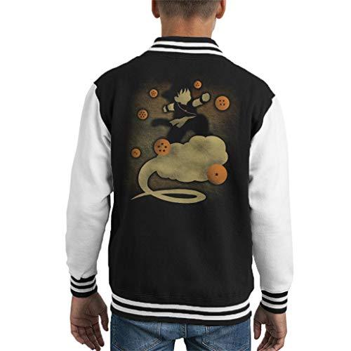 Dragon Ball Z Goku Cloud Silhouette Kid's Varsity Jacket