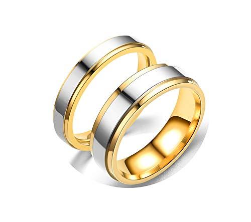Zeitgenössische Holz-schmuck-kästen (Epinki Damenringe Edelstahl 2 PCS Ringe Rund Silber Gold Ringe Damen Antragsringe Damen Gr.54 (17.2) & Herren Gr.52 (16.6))