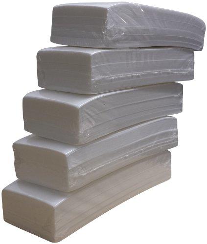 Lote de 500 bandas de papel para depilación con cera (5 paquetes...