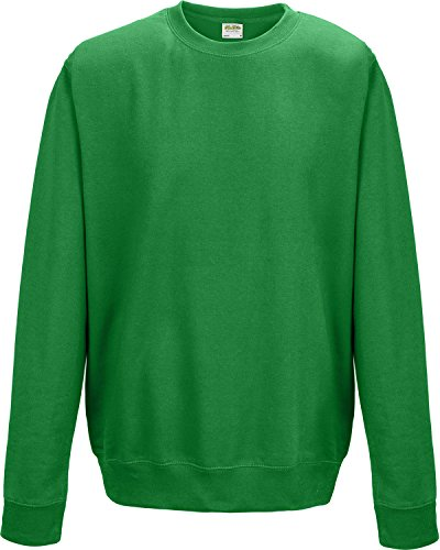 Crew Neck SweatShirt - Huge 37 Colour Range Available Grün - Kelly Green