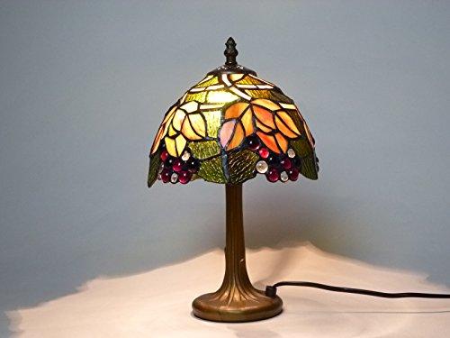Hochwertige Echtglas Tiffany Tischleuchte Corina klein H36cm Lampe im Tiffany Stil Leuchte - Tiffany Bronze Lampe